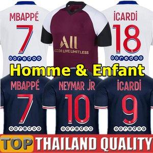 20 개 21 MBAPPE ICARDI 카바 니 축구 유니폼의 PSG저지 2020 파리 축구 셔츠 세트 2,021 마르 키 VERRATTI 남성 여성 아동 키트 유니폼