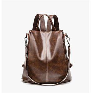 HBP Çanta Çanta Sırt Çantası Yeni Taşınabilir Çok Fonksiyonlu Çift Kullanım PU Sırt Çantası Moda Çanta 2020 Yeni Varış En Çok Satan Popüler ve Sıcak Stil