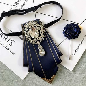 New Free Shipping fashion male MEN'S MAN Korean bow tie brooch SET men groom wedding rhinestone dress assembly decoration collar