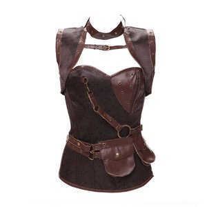 de gama alta de tamaño que forma el cuerpo Do Shen Fu gama alta ropa moldear el cuerpo de punk 13 pieza de las mujeres del vientre de retención de acero además de huesos de las mujeres VeX1n