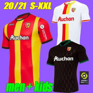 2021 RC Lens Uzakta Futbol Formaları Gradit Fortes Cahuzac Perez 2020 2021 RC Lens Maillot De Foot Camisa de Futebol Erkekler Futbol Gömlek