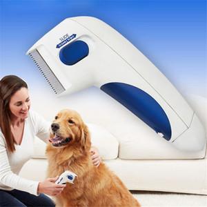 고양이 터미네이터 브러시 안티 제거 연속 클리너 전기 머리 애완 동물 벼룩 개에 대한 전자 이가 빗
