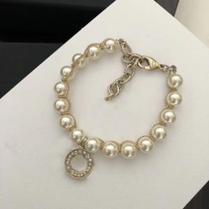 pulseras de perlas NUEVA brazaletes de la manera amantes del banquete de boda del regalo de compromiso de las mujeres con la CAJA jewyelry LZ