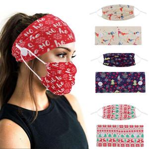 Europea y americana botón de Navidad máscara de impresión deportes máscara banda para la cabeza banda para el cabello de moda de mujer yoga diadema T2I51464