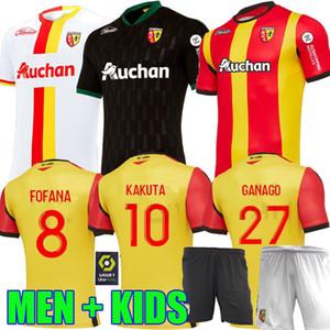 20 21 RC maillots de football de lentille MAILLOT pied FOFANA GANAGO Kakuta Gradit Perez 2020 2021 Fortes home away troisième kit HOMMES ENFANTS shirt de football