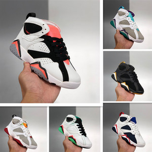 2020 Kids black Jumpman 7s Basketball Shoes youth Sports Shoes big Boys red 7 Sneakers Children Chaussures de basket Enfant Size 11C-3Y