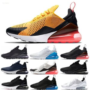 Nike Air Max 270 27c 2020 Yeni Koşu Ayakkabı Tam minderli Erkekler Kadınlar Neon Üçlü Siyah Karbon Gri Metalik Gümüş Chaussures 36-45 sneakers