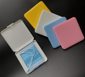 Tropfenschiff beweglichen Mask-Aufbewahrungsbehälter Face Shield Feuchtigkeit Staub-Beweis-Container Einweg-Gesichtsmaske Box Munddeckelhalter Maske-Speicher-Fall