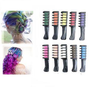 10 types de couleurs Craie Cheveux peigne Tempory Peinture Temps de style de style de la mode jetable Teinture de cheveux Fournisseur