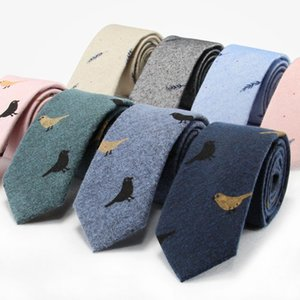 Necktie High Quality Cotton Men's Unisex Suit Shirt Daily Activities Party Wedding Classic Trendy Personality Bird Tie Gifts