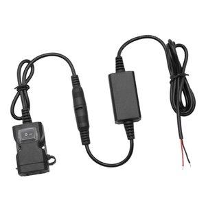 오토바이 핸들 듀얼 USB 충전기 포트 소켓 방수 스위치