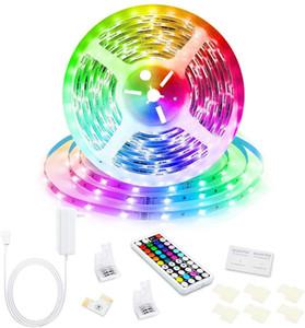 Scatola di vendita al dettaglio SMD 5050 Strips LED Strisce RGB Luci Kit impermeabile IP65 150 LED + 44 Tasti Telecomando + 12V 5A Alimentazione