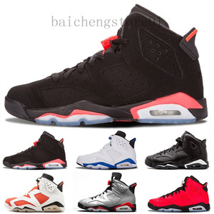 New arrival 6 6s mens basketball shoes INFRARED UNC MAROON TINKER HATFIELD BLACK CAT CARMINE GATORADE men sports sneakers size 8-13 F5R26