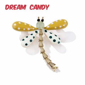 Dream Candy Colorful Enamel Dragonfly Brooches for Women 2 Colors Spot Insect Brooch Pins Fashion Jewelry Coat Accessories Gifts