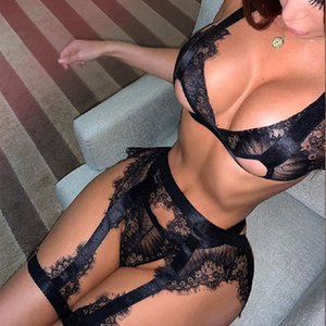 Women's Underwear Sexy Lace Bra and Panty Set Hollow Out Lingerie Set Push up Bra Erotic Sexy Lingerie Underwear