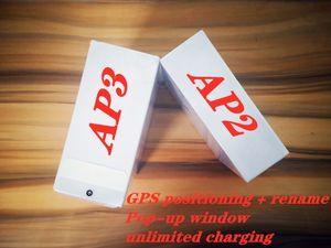 GPS Rename AP2 AP3 TWS Bluetooth Fones de ouvido Fones de ouvido Headset Earbuds H1 Chip de carregamento sem fio Air Optical Detection Pods PK 2 3 Pro i12 i9