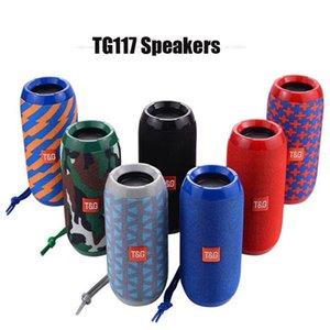 جديد TG117 بلوتوث في الهواء الطلق للماء المتحدث المحمولة العمود اللاسلكية مكبر الصوت صندوق دعم TF بطاقة FM راديو مدخل aux DHL الإدخال