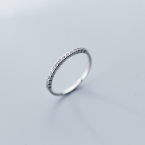 Fashion ring design 925 Sterling Silver Stackable Ring Fashion Charm Tiny Cubic Zirconia Lady Jewelry Birthday Present Women Christmas Gift