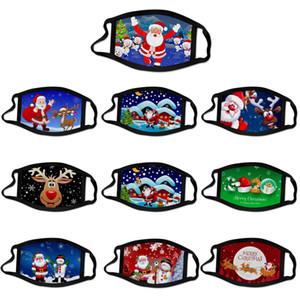 Neujahr Weihnachtsweihnachts Masken Druck Weihnachtsmann Tiere Mode Kind-Baumwollbreathable waschbar bequeme weiches Gesicht heiße verkaufender Maske