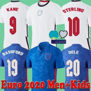 England Maillot football Coupe Euro 2020 Inglaterra KANE STERLING VARDY Rashford DELE 20 21 équipes nationales hommes de chemise de football + enfants uniformes kit 2021