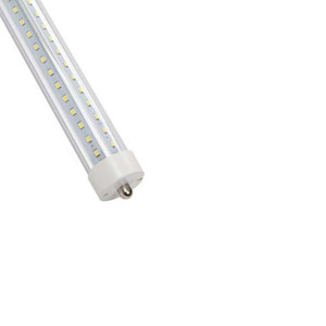 T8 LED Cooler Door Tube Light,45w AC110V FA8 Single Pin, Dual-End Powered,Ballast Bypass,Double Row 270 Degree Clear Lens 6500K 10PCS
