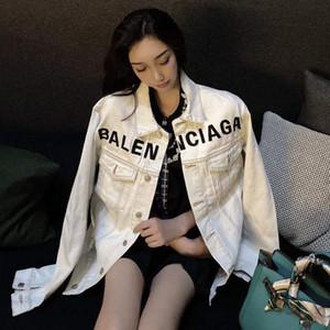Kadınlar için Şık kot ceket göğüs severler ceket eğilimine 2020 Sonbahar yeni B işlemeli kot gömlek
