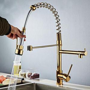 Pull Out robinet Pulvérisateur pivotant deux têtes de remplissage 360 Rotary Robinet de cuisine Pomme de douche Economiseur Filtre à eau flux robinet mélangeur