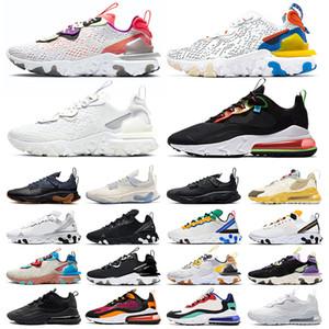 2020 sapatos NIKE AIR MAX 270 React STOCK X Travis Scott mulheres dos homens de ALTA QUALIDADE tênis de corrida Equestre Pastel Hip Hop Triple s SAFARI EPIC designer formadores