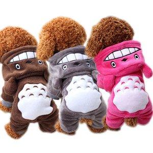 الكرتون كلب الملابس الدافئة للكلاب الصغيرة الشتاء لينة الكلب الملابس زي تشيهواهوا الملابس هوديس الجرو القطة الستر معطف