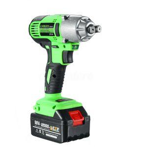 NEW 98VF 320NM 12000mAh Cordless Electric Impact Wrench Drill Screwdriver Gun MY