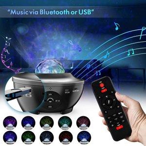 Remote Night Light Projector Ocean Wave Voice App Control Bluetooth-Lautsprecher Galaxy 10 Bunte Sternenhändler Szene für Kinder Spiel Party Room Retail