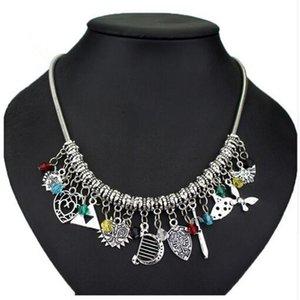 Declaración de bricolaje collar La leyenda de Zelda Majoras Mask corazón Navi Multi-colgante de collar de la mujer Gargantilla cadena de la serpiente