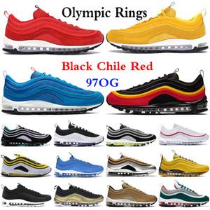97s Uomo Scarpe da corsa Balck Metallic Gold South Beach PRM Giallo Triple White 97s Designer Donna Sport Sneakers US 5.5-11