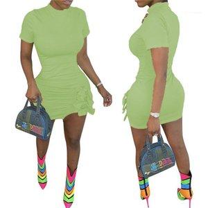 Slim Womens Beautiful Dress Bow Elegant Ladies Formal Party Pencil Casual Dress Summer Business Mini Dress
