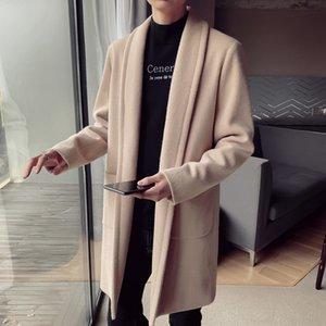 Rosee gbGuC 2019 orta uzunluktaki Erkekler rüzgarlık Kore tarzı moda yünlü erkekler rahat Yeni WINDBREAKER Coat coatfree ceket