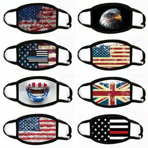 Face Mask Printed Leopard USA Flag Leaf Cotton Masks Ear Loop Adjustable Anti Dust Haze Durable Breathable Mouth Cover#420 Qrqai