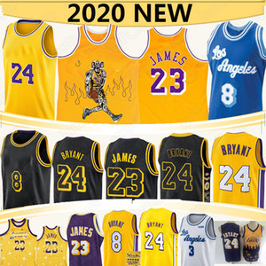 Lebron 23 James Basketball Jerseys NCAA Anthony 3 Davis 2020 Nouvelle Signature Retro Signature Mamba Black Jersey