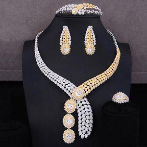 Ohrringe Halskette Godki 4 stücke Edle Stil Design CZ Halskette + Armreif + Ohrringe + Ring Schmuck Set für Frauen Jubiläum Luxus Braut Hochzeit