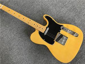 Custom Shop '52 American Deluxe bordo Telecaster Natural Guitarra elétrica Tele Butterscotch loira Preto Pickguard bordo Neck