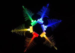 2017 nuevo de la venta del Año Nuevo Led Colores Christmas Tree Gifts Suministros de fibra óptica Luz de Navidad Sombrero de actividad