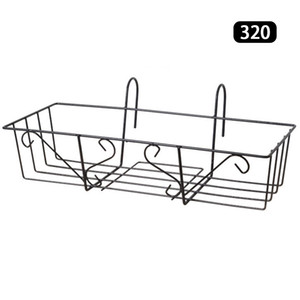 Saksı Tutucu Demir Sanat Depolama Askı Asma Korkuluk Balkon Porch Raf
