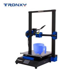 Tronxy XY-3 Pro Printer 3D desktop Kit 300 * 300 * 400 milímetros com impressora 3D de 3,5 polegadas Full Color Touchscreen Extrusora silencioso Motherboard