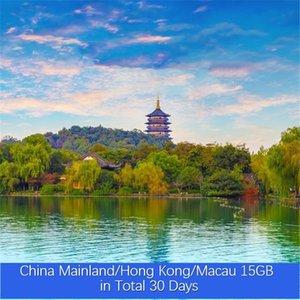 China Continental / Hong Kong / Macau 15GB no total 30 Dias VPN ilimitado de Roaming Global Viagem Dados Simcard Pré-pago Internet Turismo Cartão Pr baratos