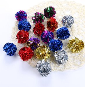 3.8cm Crinkle Ball Pet Cat Toys Multicolor Mylar Crinkle Sound Shiny Paper Play Balls Pet Toy Gifts Playing Balls GGA3698