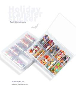 Nail Art Nail Halloween autocollant d'étoile Sticker Set papier transfert Accessoires de Noël