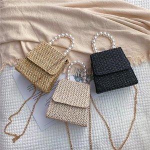 Солома сумка сумки женщин ретро лето Rattan сумка плеча способа Малые площади ручной работы сплетенный Бич bolso Mujer