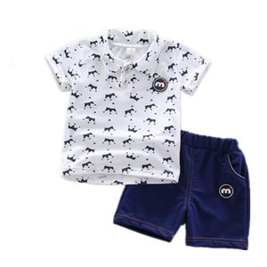 Toddler Boys Clothing Sets Summer Baby Boys Clothes Suit Gentleman Style Shirt+Pants 2pcs Clothes For 0 1 2 3 4 Years Boys Set