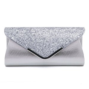 Fashion PU sequined women's hand-held cosmetic evening banquet bag -128