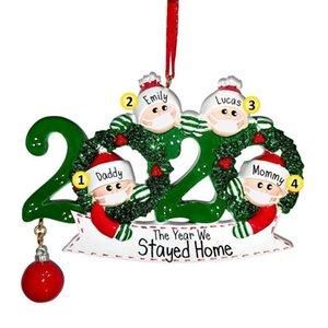 NUOVO quarantena Natale Compleanni del partito del regalo della decorazione del prodotto personalizzato Famiglia Ornamento Pandemic sociale distanze 500pcs OOA9056