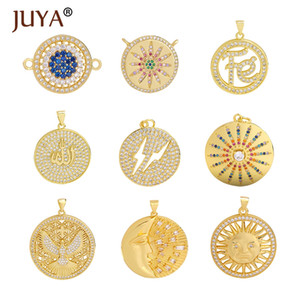 Juya fascini monili che fanno i pendenti Luna fascino per il pendente della collana di donne fatti a mano accessori Forniture per gioielli di lusso